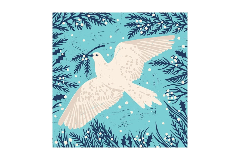 Dove Christmas Card (10 Pack)